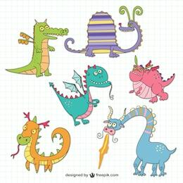 Desenhos dragões engraçados