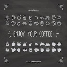 Desfrutar do seu vector de café com textura negro