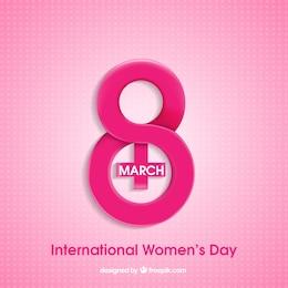 Design criativo para o dia da Mulher