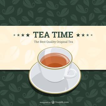 Design do vetor hora do chá do vintage