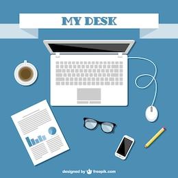 Design plano kit de escritório vetor
