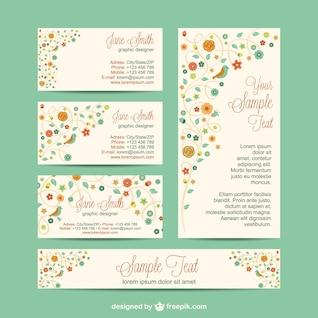Design set identidade corporativa flores
