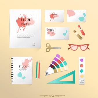 Designer de mock-up conjunto de vetores