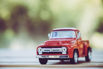Detalhe do carro de brinquedo retro