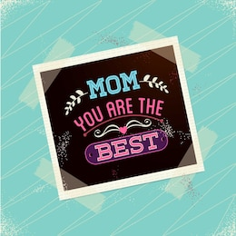 Dia cartão polaroid livre da mãe