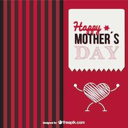 Dia coração o amor de mãe é forte cartão