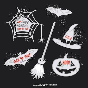 Dia das bruxas adesivos embalar