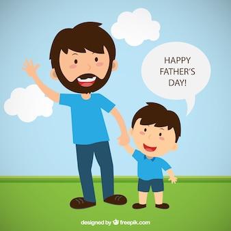 Dia de pais feliz ilustração