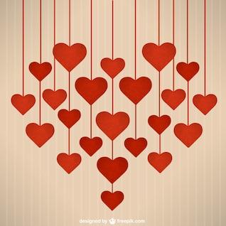 Dia dos Namorados Corações de suspensão