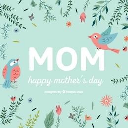 Dia vetor cartão tipográfica da mãe