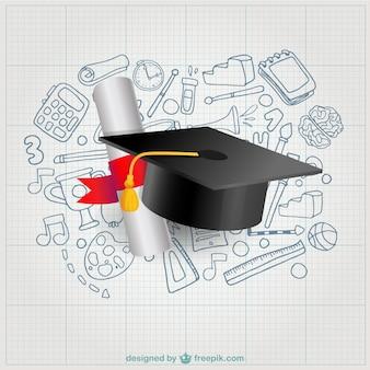 Diploma e mortarboard