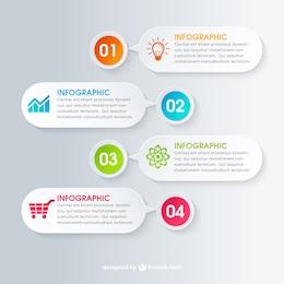 Discurso do negócio bolhas infográfico