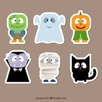 Do caráter de Halloween stickers
