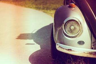 Do farol do carro do vintage