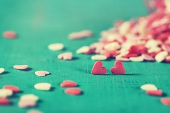 Doces em forma de coração