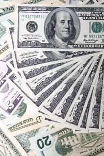 Dólar closeup dinheiro