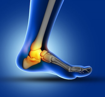 Dor nas articulações do pé