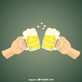 Beber cerveja dos desenhos animados