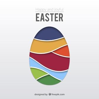 Ovo de Páscoa feito de ondas coloridas