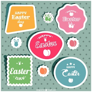 Easter etiquetas do vetor