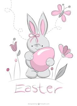 Desenho coelho da páscoa