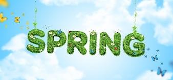 Eco papel de parede primavera psd