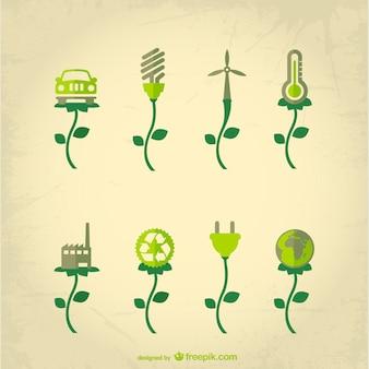 Indústria conceito ecológico vector