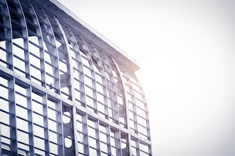 Edifício com armação de metal
