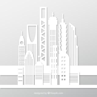Edifícios brancos