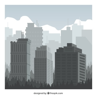 Edifícios da cidade cinzento