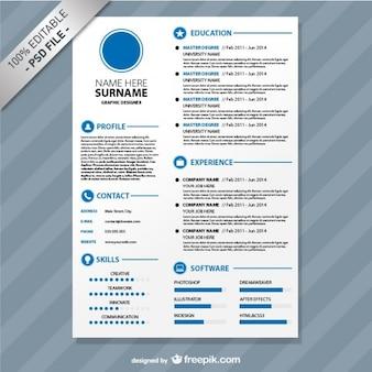 Editável formato cv de download