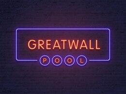 Efeito de texto neon com duas esquema de cores