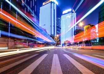 Efeito de velocidade de movimento com City Night