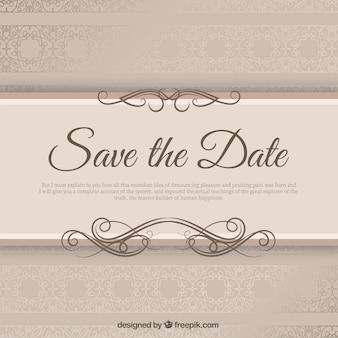 Convite de casamento elegante com riband