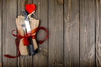 Elemento guardanapo coração amor Valentim