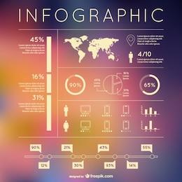 Elementos de desenho livre infográfico vetor