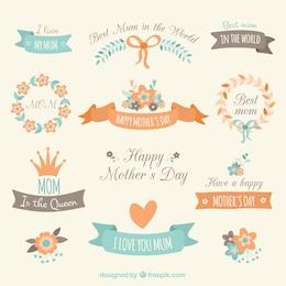 Elementos decorativos para o dia das mães