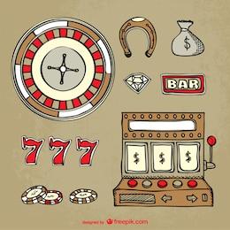 Elementos do casino vector
