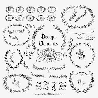 Elementos florais do projeto