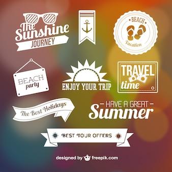 Elementos gráficos de verão