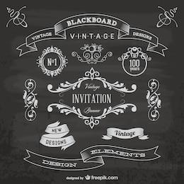 Elementos gráficos negro aniversário