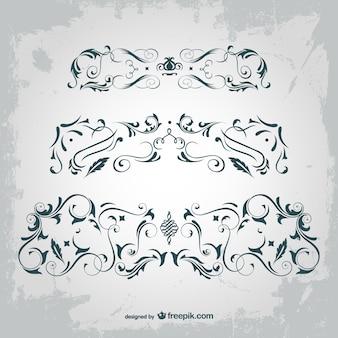 Elementos gráficos vetoriais arabesco
