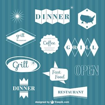 Elementos gráficos vetoriais restaurante