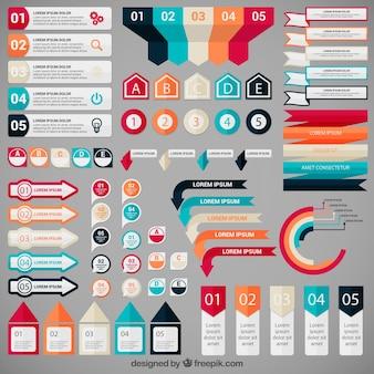 Elementos infographic coloridos