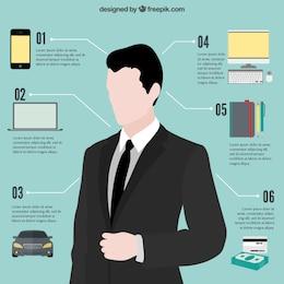 Elementos infographic Negócios