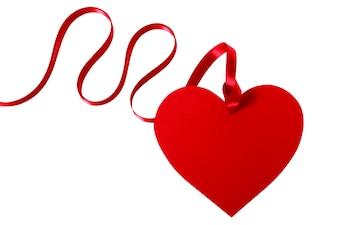 Em forma de coração tag do presente do Valentim