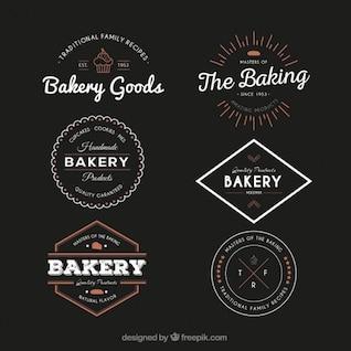 Emblemas da padaria do vintage