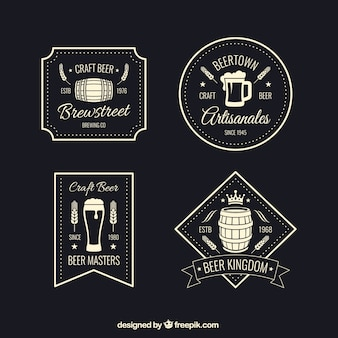Emblemas de cerveja retro
