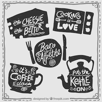 Emblemas de cozinha retros