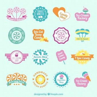 Emblemas doces bonitos